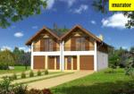 Проект одноэтажного дома с мансардой  - Муратор БЦЦ203б